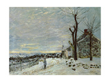 Snow at Veneux-Nadon, C.1880 Giclee Print by Alfred Sisley