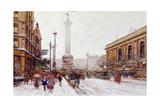 Place De La Bastille Giclee Print by Eugene Galien-Laloue