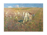 Ploughing, Early Spring Giclee Print by Edward Stott