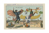 Flying Policeman in the Year 2000 Giclee Print
