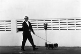 Meyer Lansky Walking Bruzzer on Miami Beach, 1979 Photographic Print