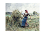 Peasant and Hay Giclee Print by Julien Dupre
