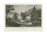 Coggeshall Abbey, Essex Giclee Print by William Henry Bartlett