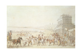Brighton Races, 1816 Giclee Print by Thomas Rowlandson