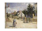 Road in Pontoise, 1879 Reproduction procédé giclée par Camille Pissarro