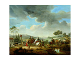 Convoy Escorted by French Dragoons Giclee Print by Jacques Francois Joseph Swebach