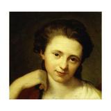 Portrait of Angelica Kauffmann, Bust Length Giclée-tryk af Anton von Maron