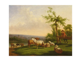 Pastoral Landscape with a Herd Giclee Print by Balthasar Paul Ommeganck