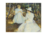Mother and Child in Pine Woods Giclee Print by Edmund Charles Tarbell