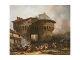Combat at Porte Pannessac in 1562, C.1833 Giclee Print by Julien-michel Gue