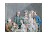 The Family of Charles Schaw, 9th Baron Cathcart Giclee Print by Johann Zoffany
