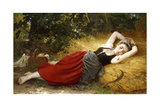 A Young Peasant Girl, Sleeping, 1874 Giclee Print by Leon Bazile Perrault