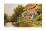 A Rustic Retreat Giclee Print by Arthur Claude Strachan