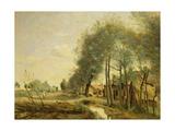 The Sin-Le-Noble Road Near Douai, 1873 Giclee Print by Jean Baptiste Camille Corot