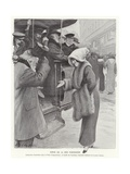 Parisian Street Scene Giclee Print by Louis Remy Sabattier