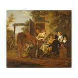 Country Snack Giclee Print by Jean Louis De Marne