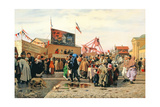 Stalls for Easter Week in Tula, 1868 Giclee Print by Andrei Andreevich Popov