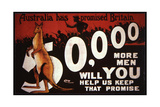 Wwi Australian Recruiting Poster, 1914-18 Giclee Print