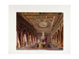 The Throne Room, Carlton House, 1819 Giclee Print by Charles Wild