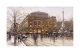 Place Du Chatelet Giclee Print by Eugene Galien-Laloue