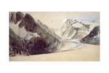 Mer De Glace, Chamonix, 1849 Giclee Print by John Ruskin