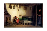 Interior of a Cottage, C.1870-77 Giclee Print by Albert Anker