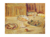 Bowls of Fruit and Biscuits and Wineglass Giclee Print by Edouard Vuillard