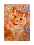 Ginger Cat, 1931 Giclee Print by Louis Wain