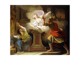 Aeneas Pursuing Helen in the Temple of Vesta Giclee Print by Pierre Lacour