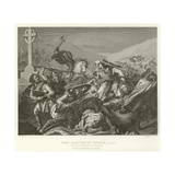 The Battle of Tours, Ad 732 Giclee Print by Alphonse Marie de Neuville
