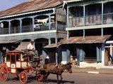 Horse and Cart, Mamyo, Myanmar Photographic Print