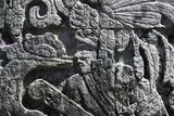 Human Figure, Stone Bas-Relief, Chichen Itza Photographic Print