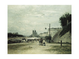 The Quai De Louviers at the Pont Sully, C.1875 Giclee Print by Stanislas Victor Edouard Lepine
