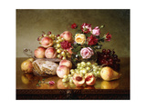 Fruit Still-Life with Roses and Honeycomb, 1904 Giclee Print by Robert Spear Dunning