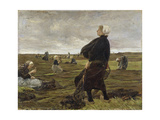Repairing the Nets, 1889 Giclee Print by Max Liebermann
