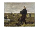 Repairing the Nets, 1889 Giclee Print by Max Liebermann