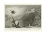 St Goar and Ruins of Fort Rheinfels Giclee Print by William Tombleson