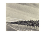 Study for 'A Column on the March', C.1914 Giclee Print by Christopher Richard Wynne Nevinson