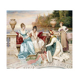 A Selection of Silk and Satin Giclee Print by Joseph Frederic Soulacroix