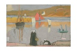 The Port at Saint-Briac, 1887 Giclee Print by Emile Bernard