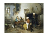 Letter from Camp, 1862 Giclee Print by Gerolamo Induno