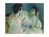 The Conversation, 1860 Giclee Print by Mary Cassatt