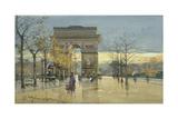 Arc De Triomphe Giclee Print by Eugene Galien-Laloue