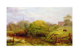 A View of Bredon Giclee Print by Henry Key