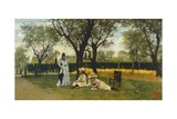 At Villa of Poggio Piano Impression giclée par Silvestro Lega