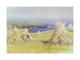 By the Corn Stocks Giclee Print by Arthur Claude Strachan