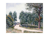 The Road of Saint-Mammes - in the Morning, 1890 Giclee Print by Alfred Sisley
