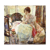 The Necklace Giclee Print by Richard Edward Miller