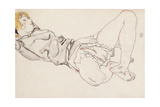 Reclining Woman with Blonde Hair, 1912 Giclee Print by Egon Schiele