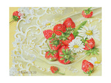 Strawberries on Lace, 1999 Giclee Print by E.B. Watts